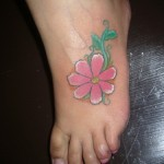 Aster Flower Tattoo