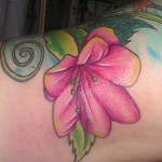 Azalea Flower Tattoo on Hand