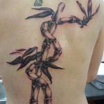 Bamboo Tattoo on Back