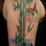 Bamboo Tattoo on Shoulder
