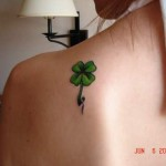 Choosing a flower tattoo according to the green color