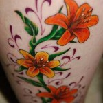 Choosing a flower tattoo according to the orange color-2