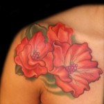 Choosing a flower tattoo according to the red color