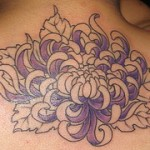 Chrysantemum Flower Tattoo on Back