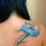 Cornflower Flower Tattoo