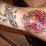 Flower Tattoo on Armpit