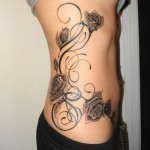 Flower Tattoo on Hip