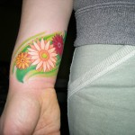 Gerbera Flower Tattoo on Hand