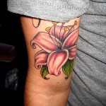 Lily Tattoo on Hand