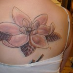 Magnolia Tattoo on Back