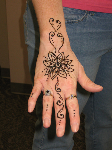temporary henna flower tattoos. Black Bedroom Furniture Sets. Home Design Ideas
