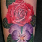 Violet Flower Tattoo