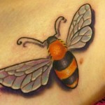 Bee Color Tattoo