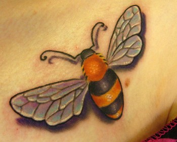 bee color tattoo bee tattoos symbol of everything good