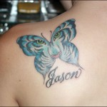 Big Butterfly Tattoo on Shoulder