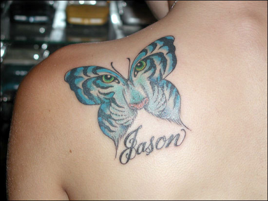 butterfly tattoo on shoulder. History and Types of Tattoos