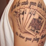 cards tattoo