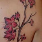 cherry flower tattoo