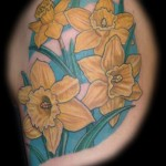 Daffodils flower Tattoo
