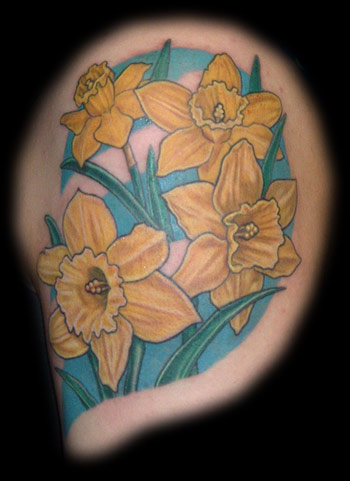 daffodils flower tattoo. Black Bedroom Furniture Sets. Home Design Ideas