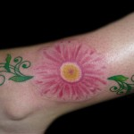 Flower Tattoo on leg