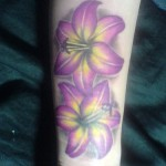 Lilly Flower Tattoo on hand