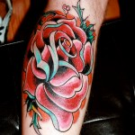 Rose Flower Tattoo Design Idea
