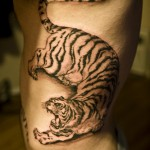 Tiger Color Tattoo