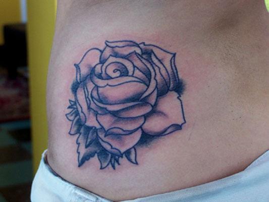 White rose flower tattoo for Rose flower tattoo designs